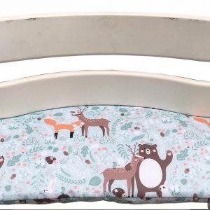 Gecoat zitkussen voor de Tripp Trapp kinderstoel van Stokke - Bosdieren mintgroen