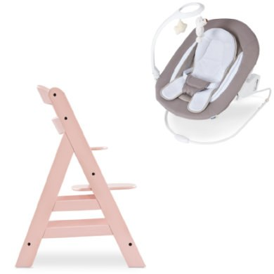 hauck Kinderstoel Alpha Plus Rose inclusief wipstoeltje Deluxe Sand