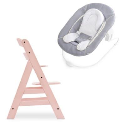 hauck Kinderstoel Alpha Plus Rose inclusief wipstoeltje Stretch Grey