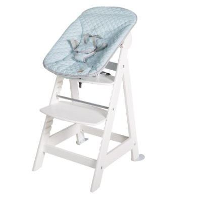 roba Trap kinderstoel Born Up wit Set 2 in 1 incl. opzetstuk Style turquoise