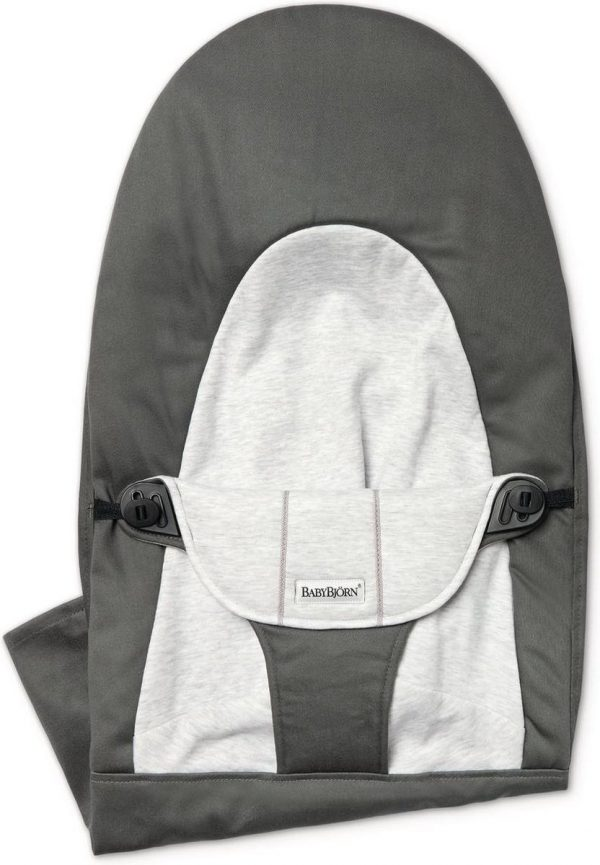 BABYBJÖRN Stoffen Zitting voor Wipstoel Balance Soft - Donkergrijs-Grijs Cotton Jersey