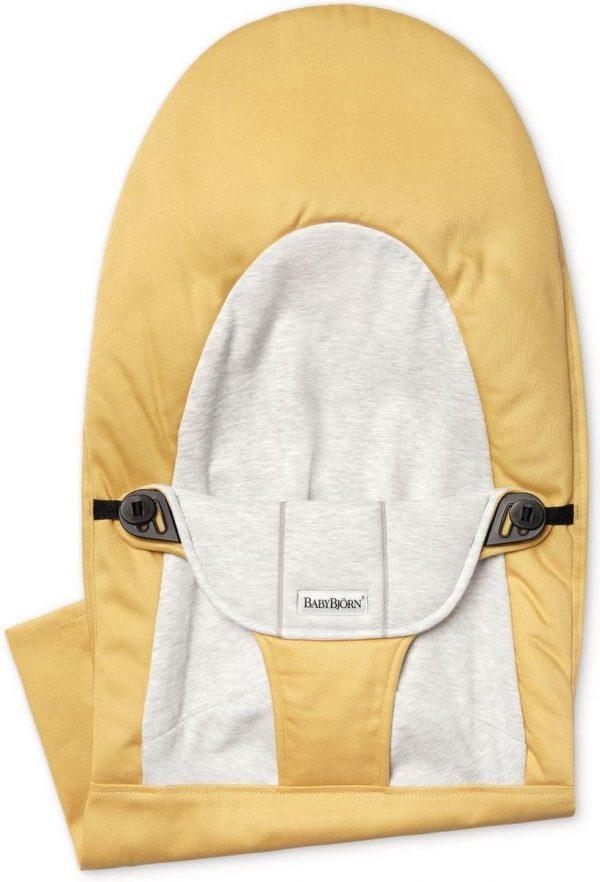 BABYBJÖRN Stoffen Zitting voor Wipstoel Balance Soft - Geel-Grijs Cotton Jersey
