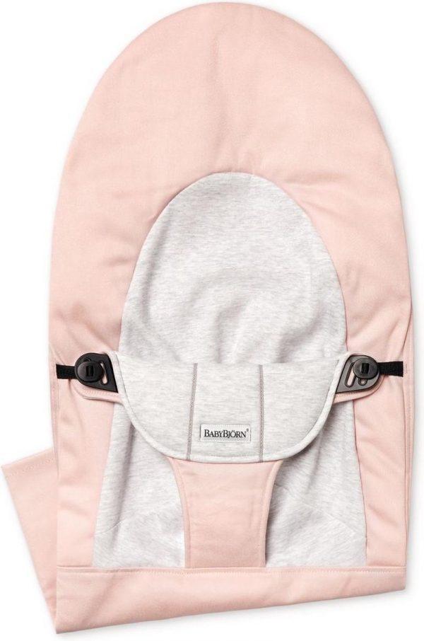 BABYBJÖRN Stoffen Zitting voor Wipstoel Balance Soft - Lichtroze-Grijs Cotton Jersey