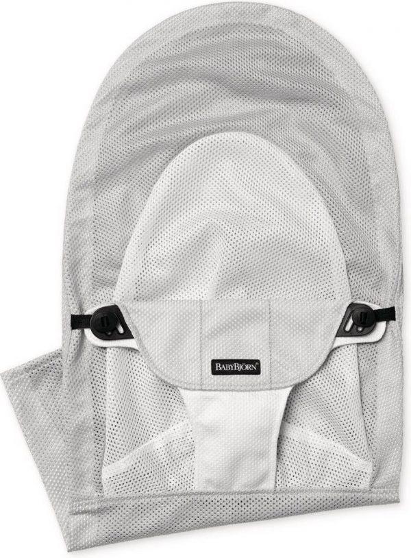BABYBJÖRN Stoffen Zitting voor Wipstoel Balance Soft - Zilver-Wit Mesh