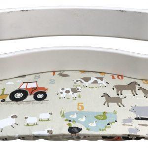 Geplastificeerd zitkussen voor de Tripp Trapp kinderstoel van Stokke - Boerderij