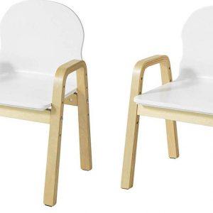 Simpletrade Kinderstoel - Stoelen - Set van 2 - In hoogte verstelbaar - 40x53x32 cm