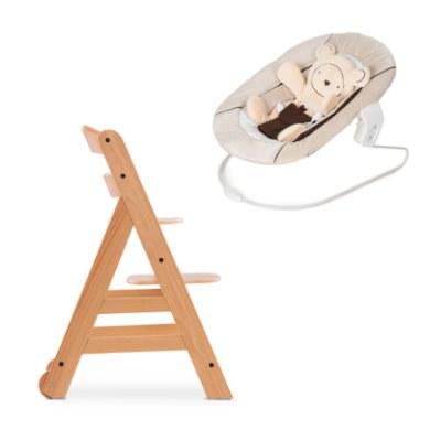 hauck Kinderstoel Alpha Move inclusief wipstoeltje Heart s Beige