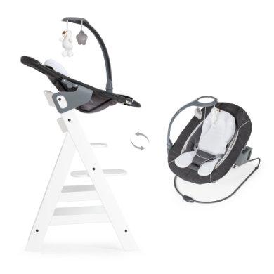 hauck Kinderstoel Alpha plus White inclusief wipstoel Deluxe melange Grey