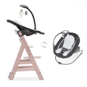 hauck Kinderstoel Beta Plus Whitewashed inclusief wipstoel Deluxe Melange Grey