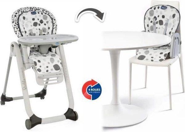 Chicco Polly Progres5 Kinderstoel - Compleet verstelbaar - Baby stoel met stoelverhoger - Antraciet