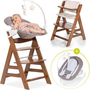 Hauck Alpha Plus Kinderstoel - Newborn Set Deluxe - Walnoot
