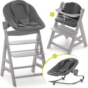 Hauck Alpha Plus Kinderstoel - Newborn Set Premium - Grijs / Jersey Charcoal