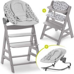 Hauck Alpha Plus Kinderstoel - Newborn Set Premium - Grijs / Nordic Grey
