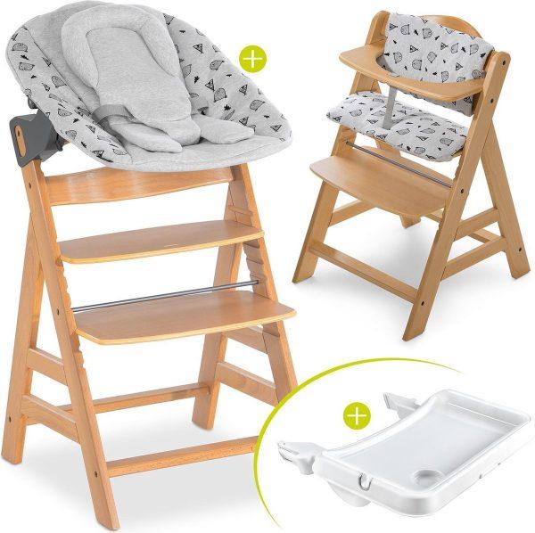 Hauck Alpha Plus Kinderstoel - Newborn Set XL - Hout