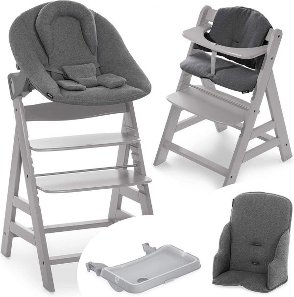 Hauck Alpha Plus Kinderstoel - Newborn Set XXL - Grijs