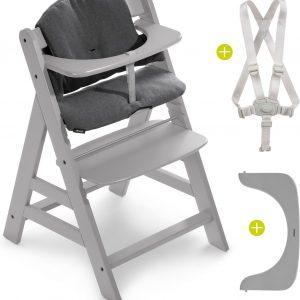 Hauck Alpha Plus Kinderstoel - Voordeelset met Premium Kussenset - Grijs / Jersey Charcoal