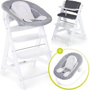 Hauck Alpha Plus Kinderstoel - Newborn Set - Wit / Grijs