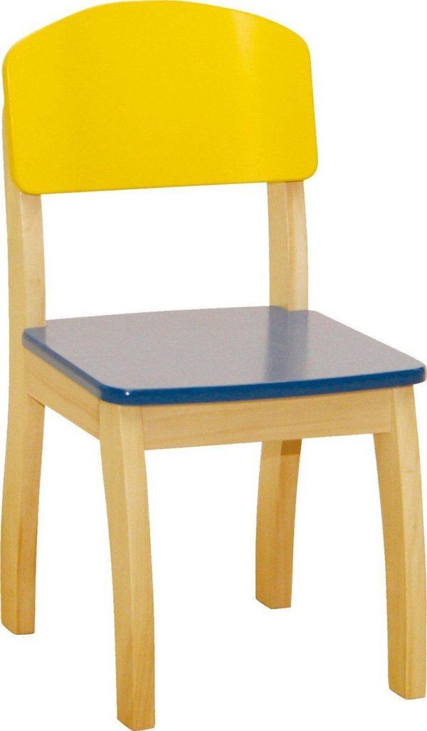 Roba Kinderstoel Junior 61 X 33 X 33 Cm Hout Geel/blauw