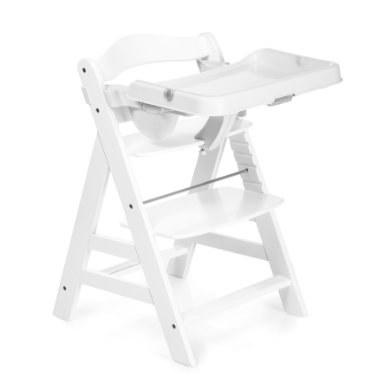 hauck Kinderstoel Alpha Plus White incl. eettafel Dienblad