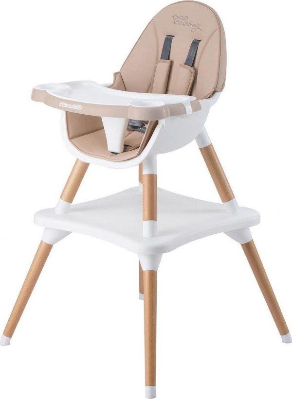 Chipolino Classy Kinderstoel - Baby eetstoel - 3 in 1 - Hoge stoel, kleine stoel & speeltafel - Tot 15 kg - Latte