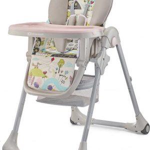 Kinderkraft Kinderstoel Yummy UP Pink Leaf - Eetstoel voor kinderen
