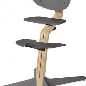 NOMI highchair kinderstoel meegroeistoel Basis eiken wit oiled en stoel grijs
