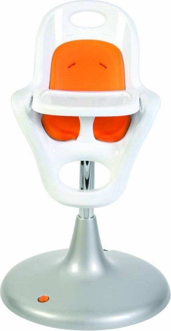 Boon kinderstoel met pneumatische lift Flair wit oranje