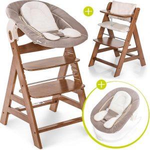 Hauck Alpha Plus Kinderstoel - Newborn Set - Walnoot / Beige