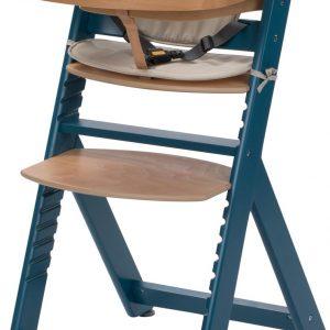 Safety 1st Timba met Kussen Kinderstoel - Petrol Blue Wood/Happy Day